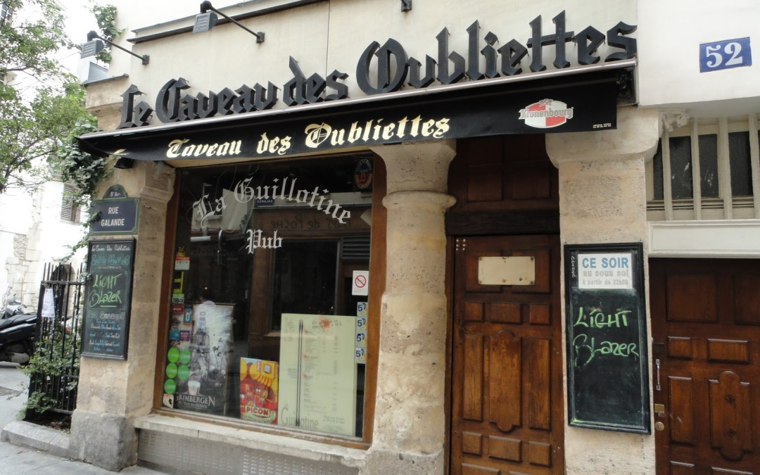 Landmarks from A Paris Apartment: Le Caveau des Oubliettes